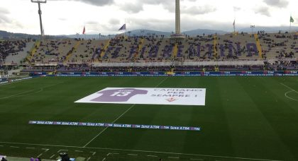 Touching tribute to Davide Astori as Fiorentina fans and club say goodbye to their captain