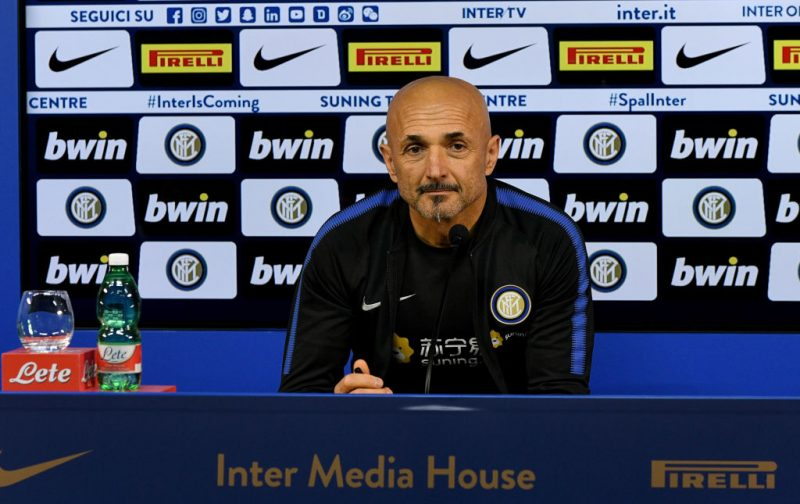 Spalletti: Winning isn't easy for Inter at the moment