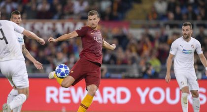 Dzeko takes the match ball as Roma destroy Viktoria Plzen
