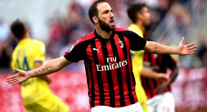 Higuain helps AC Milan ease to Chievo win