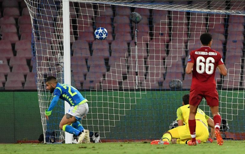 Last-gasp Insigne sinks Liverpool to give Napoli dramatic victory