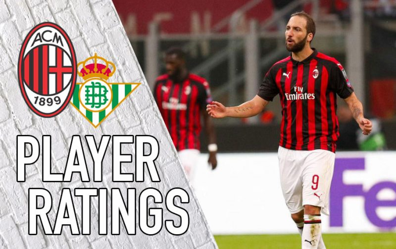 Milan Player Ratings: Where was Higuain?