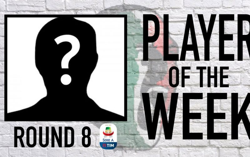 Serie A Player of the Week   Round 8