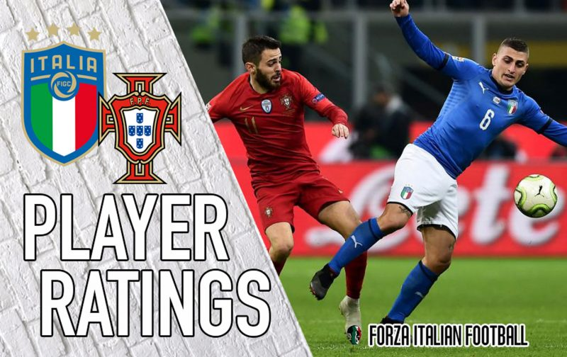 Italy Player Ratings: Vivacious Verratti not enough as Azzurri draw a blank