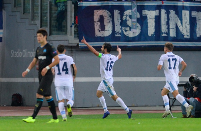 Lazio secure knockout round qualification with Marseille defeat