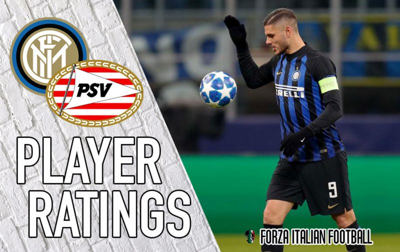 Inter Player Ratings: Icardi and Politano can't keep Champions League dream alive