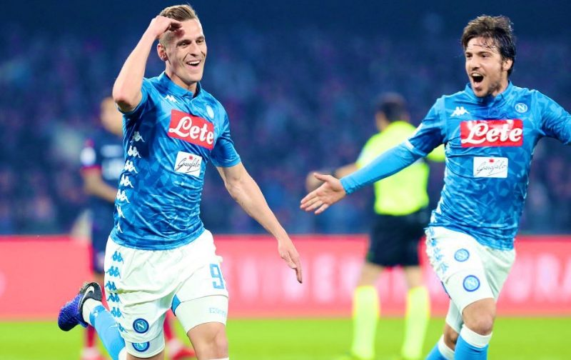 Milik brace nudges Napoli beyond determined Bologna