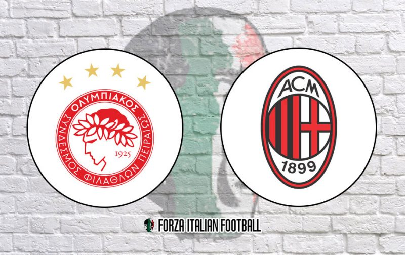 Olympiacos v AC Milan: Official Line-Ups