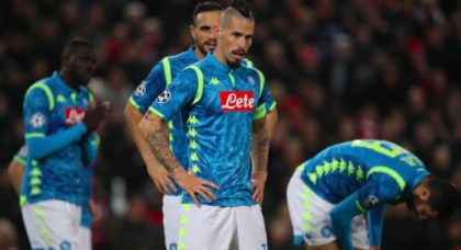 Another tale of near misses as Napoli fall from the Champions League at Anfield