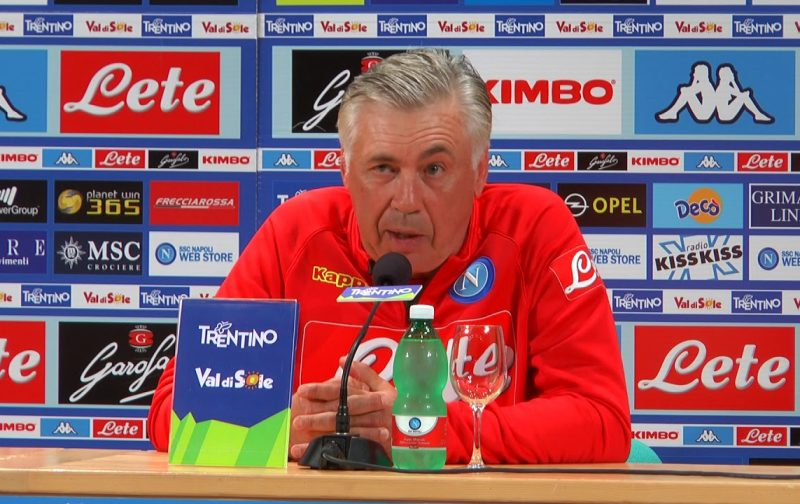 Ancelotti: I can't fault Napoli players despite Europa League exit