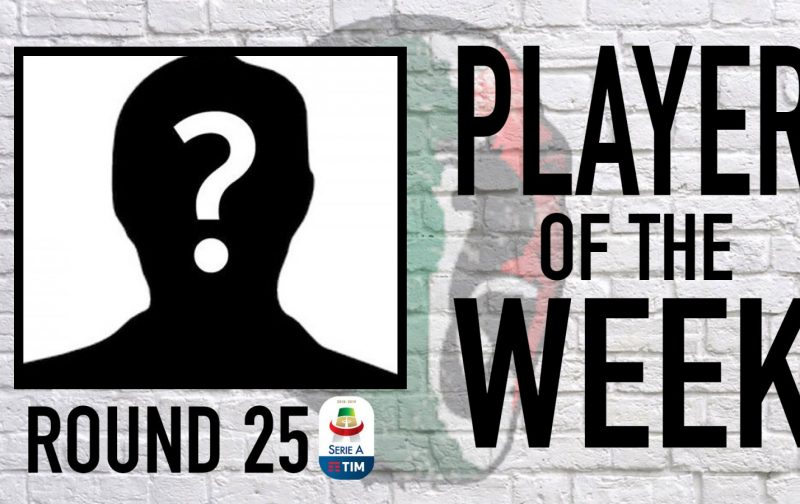 Serie A Player of the Week   Round 25
