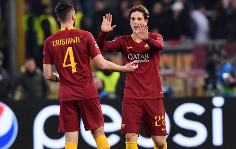 Zaniolo double puts Roma in Champions League driving seat