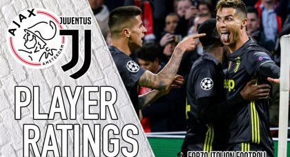 Juventus player ratings: Ronaldo seals draw against vibrant Ajax