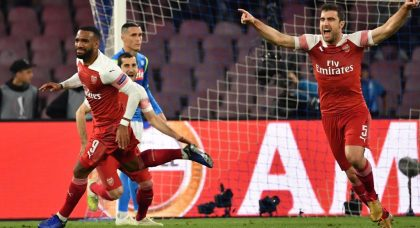 Arsenal send Napoli crashing out of Europa League