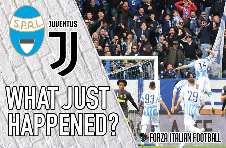 VIDEO: SPAL 2-1 Juventus – Old Lady's crowning put on hold