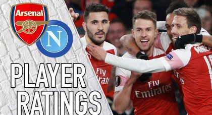 Arsenal player ratings: Ramsey gives Napoli a taste of what's to come