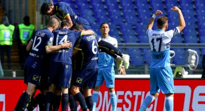 Lazio shocked by relegated Chievo