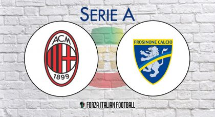AC Milan v Frosinone: Official Line-Ups