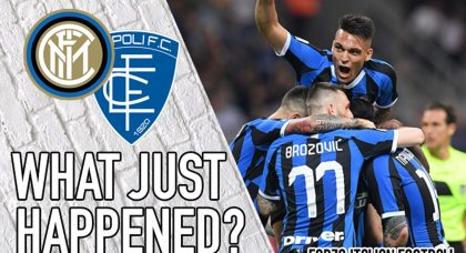 VIDEO: Inter 2-1 Empoli – Champions League secured… Just!