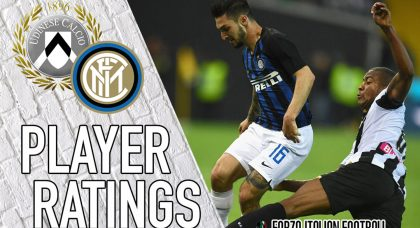 Inter player ratings: Nainggolan unable to drive Nerazzurri past plucky Udinese