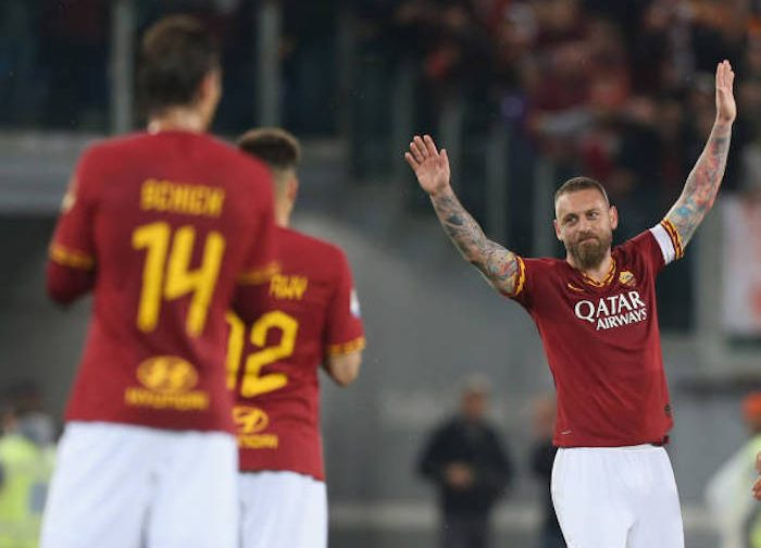 De Rossi bows out with win as Roma take down Parma
