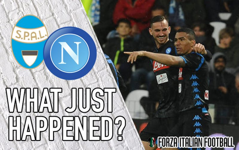VIDEO: SPAL 1-2 Napoli: Late drama in Ferrara