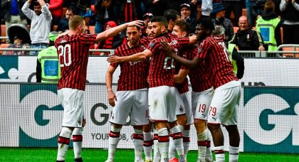AC Milan down Frosinone to keep Champions League dream alive