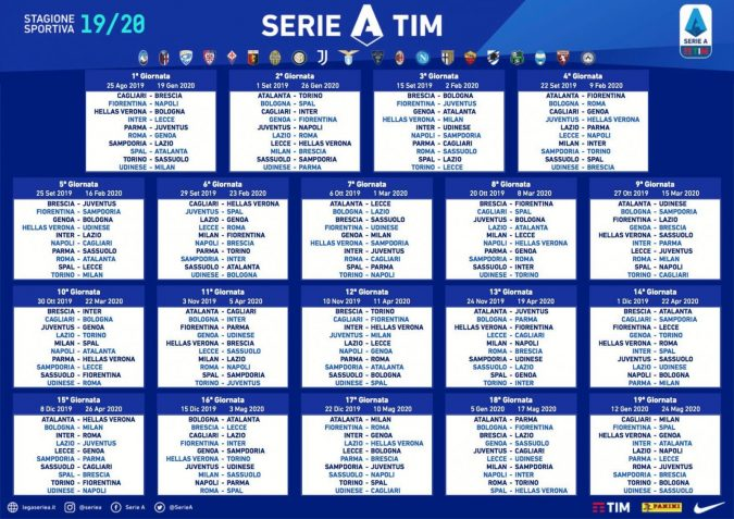 Serie A Fixtures Drawn Juventus V Napoli And Derby Della Capitale In Round Two Forza Italian Football
