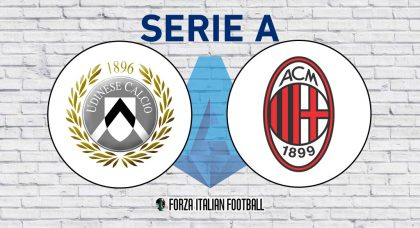 Udinese v AC Milan – Probable Formations and Key Statistics