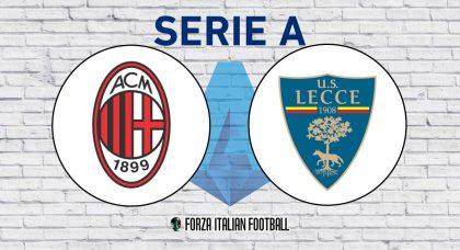 AC Milan v Lecce: Official Line-Ups