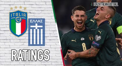 Italy Player Ratings: Greek Resistance Eventually Worn Away