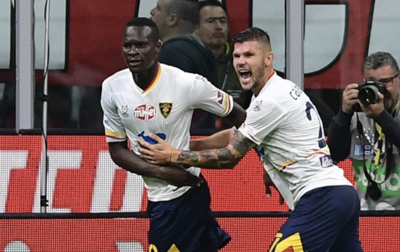 Last minute goal gives Lecce draw against AC Milan