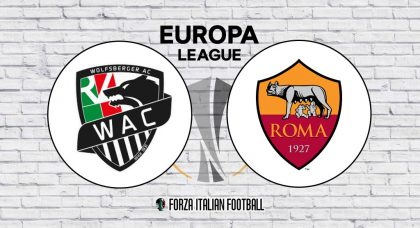 Wolfsberger v Roma: Official Line-Ups