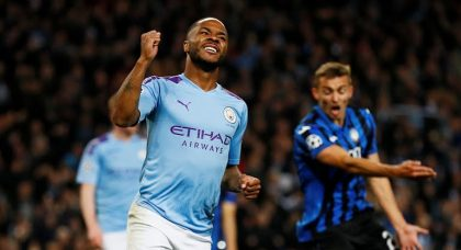 Sterling and Manchester City have too much for Atalanta