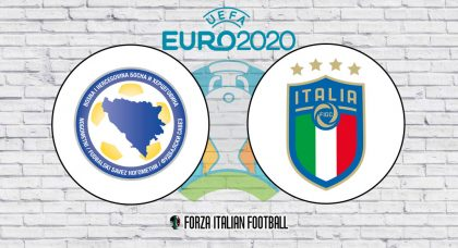 Bosnia and Herzegovina v Italy: Official Line-Ups