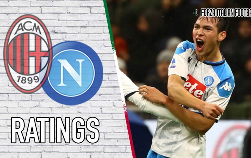 Napoli Player Ratings: Lozano strike not enough