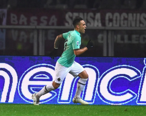 Lautaro leads dogged Inter through Torino downpour