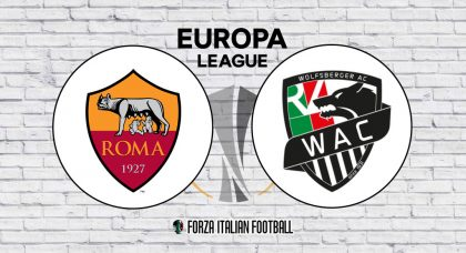 Europa League LIVE: Roma v Wolfsberger