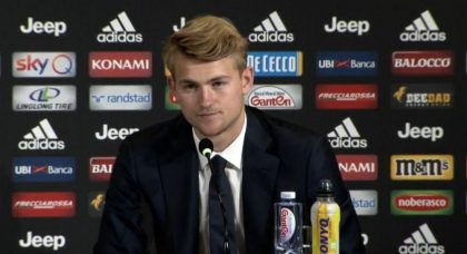 De Ligt: It's an honour to learn from Bonucci and Chiellini