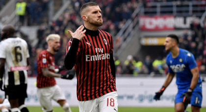 Late Rebic strike gives AC Milan win over Udinese