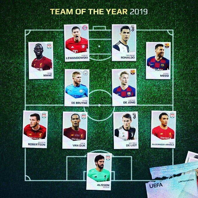 UEFA change Team of the Year formation to accommodate Cristiano Ronaldo
