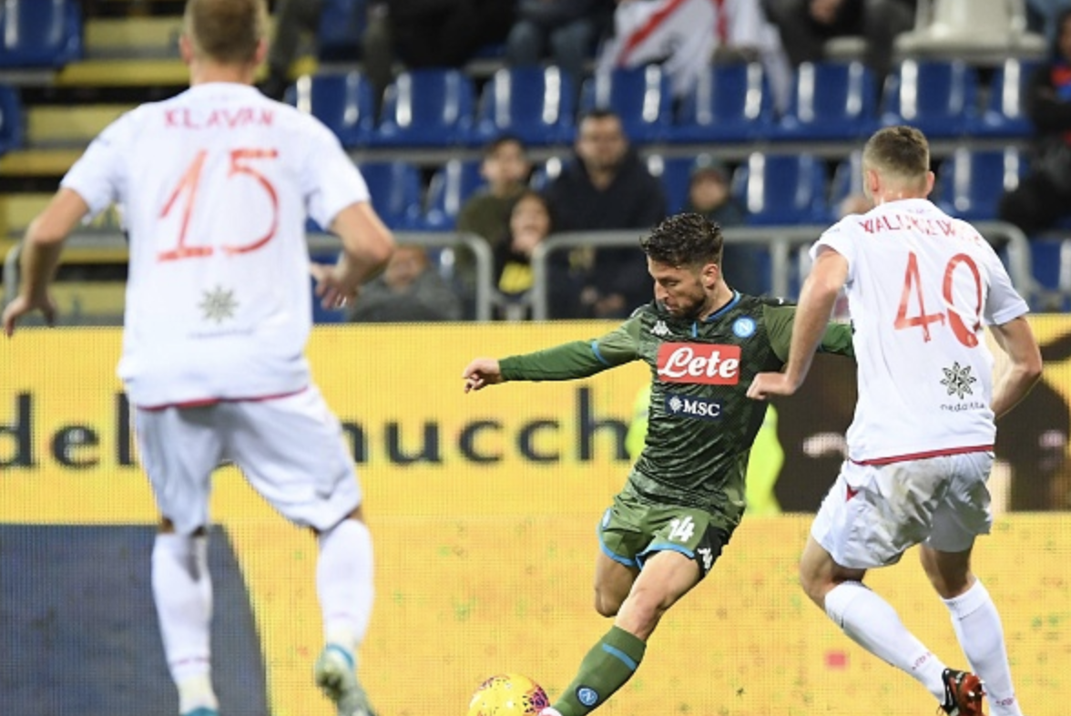 Mertens magic sinks struggling Cagliari