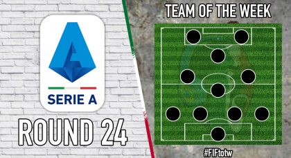 Serie A Team of the Week   Round 24