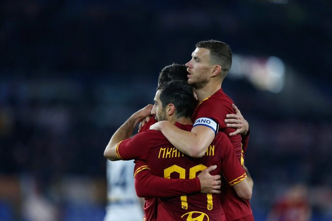 Mkhitaryan gets Roma back on track in rout over Lecce