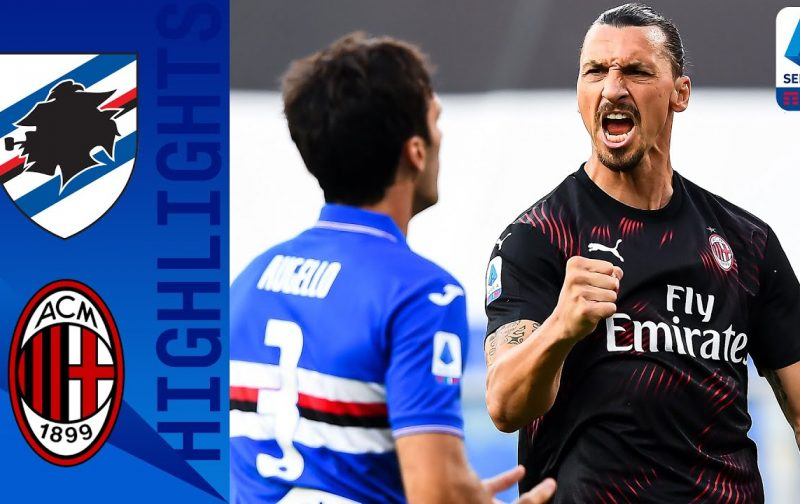 Sampdoria 1-4 AC Milan: Goals and Highlights | Inspirational Zlatan
