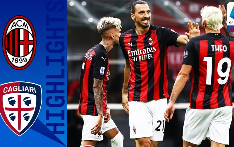 AC Milan 3-0 Cagliari: Goals and Highlights | All about Zlatan