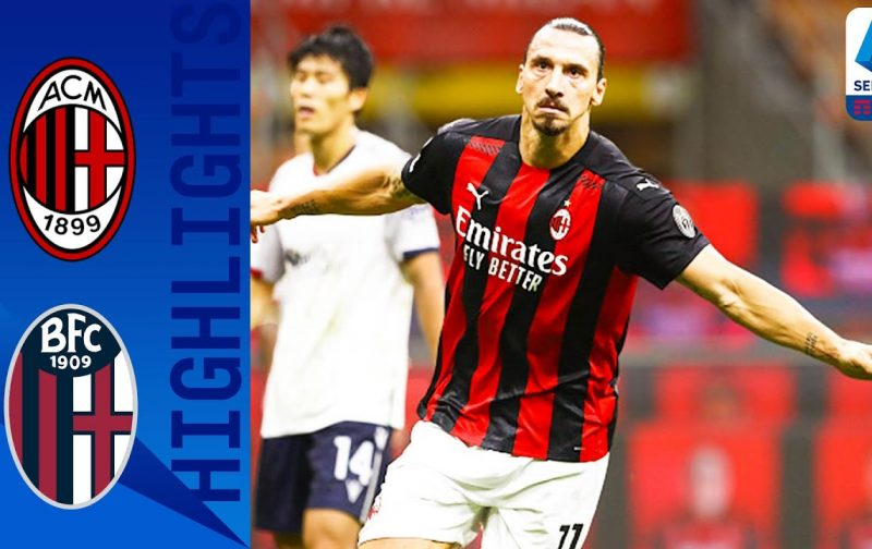 AC Milan 2-0 Bologna | Goals and Highlights | Zlatan turns back the clock