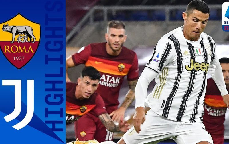 Roma 2-2 Juventus | Goals and Highlights | Veretout and Ronaldo braces