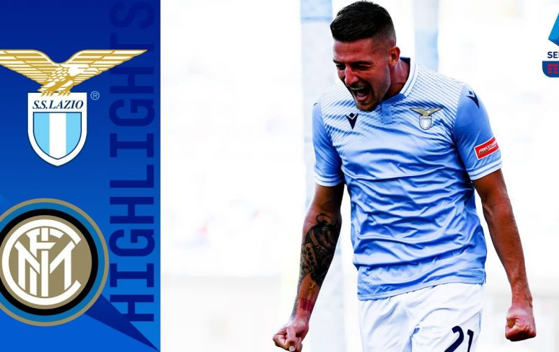 Lazio 1-1 Inter | Goals and Highlights | Even in Rome