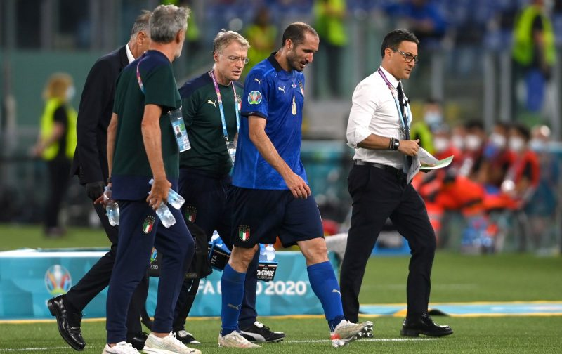 Italy sweating over Chiellini medical